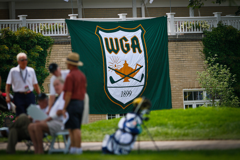 The Western Golf Association flag flies proudly in the first round Tuesday.