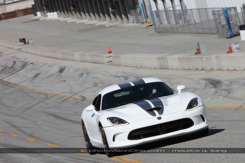 SRT Brand Manager Steve Sharples takes the last lap of the day around Mazda Raceway at Laguna Seca in the Viper.