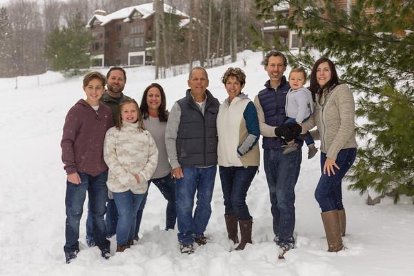 Boyne Mountain Resort winter family photo session
