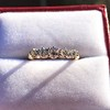 0.48ctw Vintage Transitional Cut Diamond 5-stone Band 12