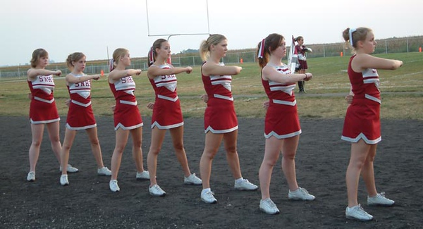 SN MS/HS Cheerleading vs Winamac 05-06