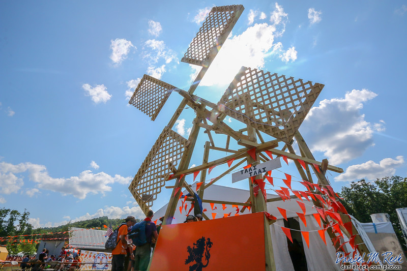 The Dutch Brought a Windmill to the World Scout Jamboree!