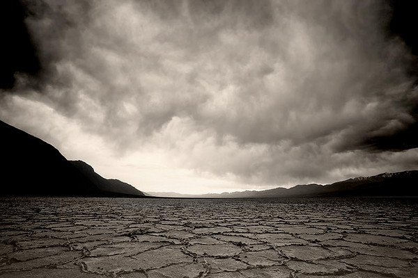 <b>SECOND PRIZE</B> Storm Brewing at Badwater Death Valley National Park submitted by: Rob Dweck from USA