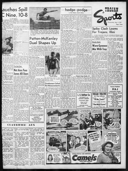 Daily Trojan, Vol. 38, No. 110, April 09, 1947