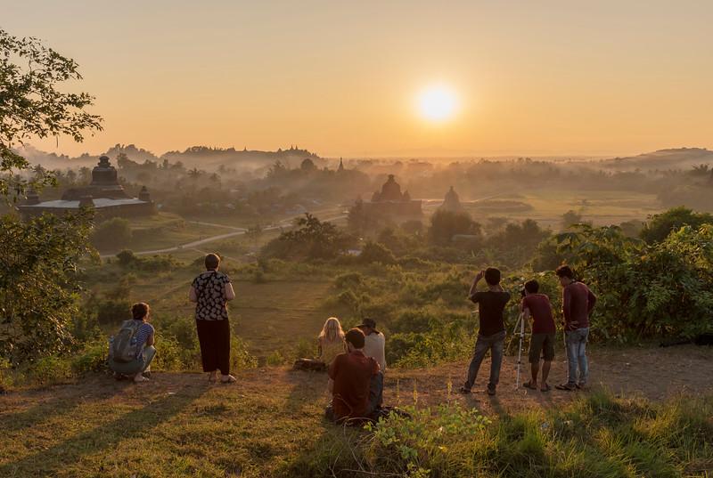 Sunset over Mrauk U, Myanmar