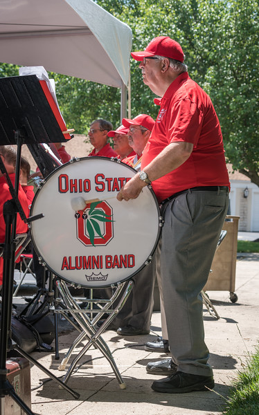 A strong band turnout meant that most Tubas and Percussion spent the whole concert in the sun
