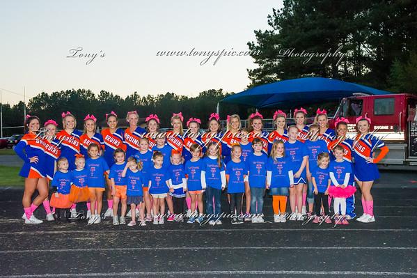 Cheerleaders @ Cartersvilllie Game 17 Oct 2014