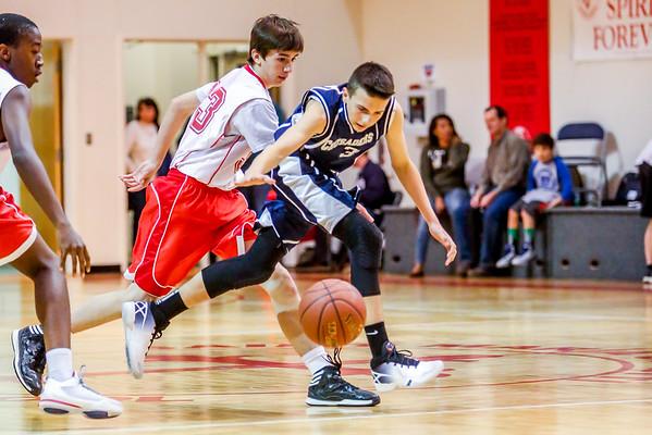 Mar 4 - Basketball - 8th Gr Gold vs SMG Red