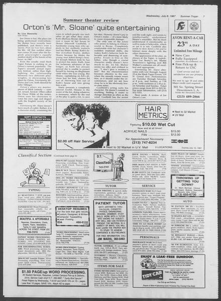 Summer Trojan, Vol. 104, No. 8, July 08, 1987