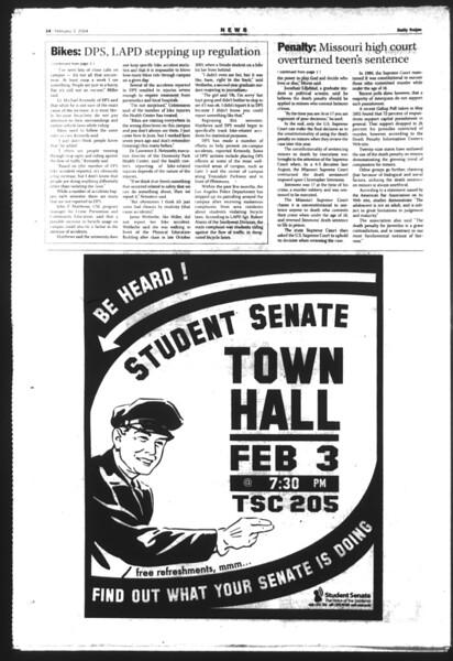 Daily Trojan, Vol. 151, No. 14, February 03, 2004