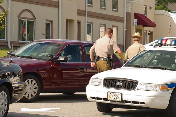9/12/11 Trooper Laney Arrest on Great  Mills Rd