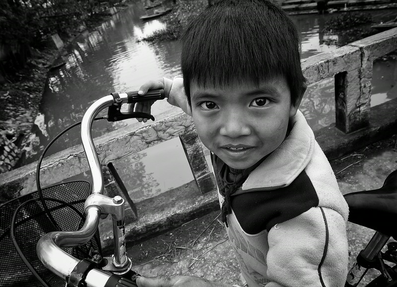 boy in a small village close to   Ninh Binh, Northern Vietnam, 2008
