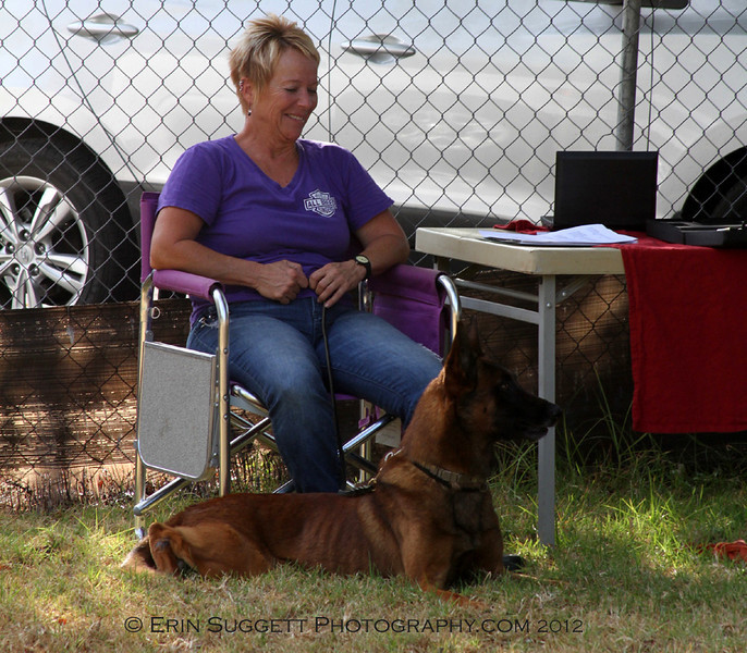 SAFE Dog Evaluator, Leri Hanson, tests Tripp without his handler present.