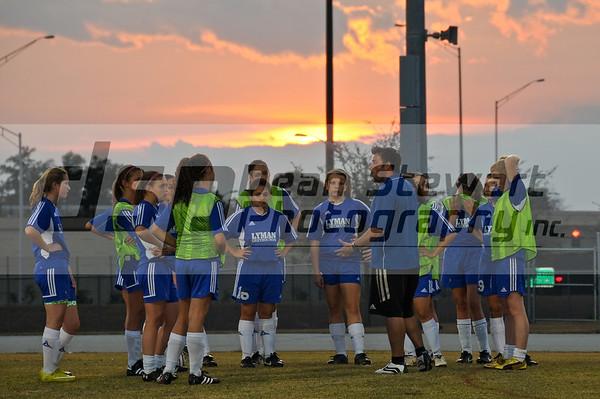 Lyman Girls JV Soccer 1-10