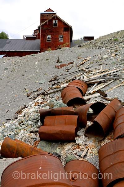 Dump behind Leaching Plant