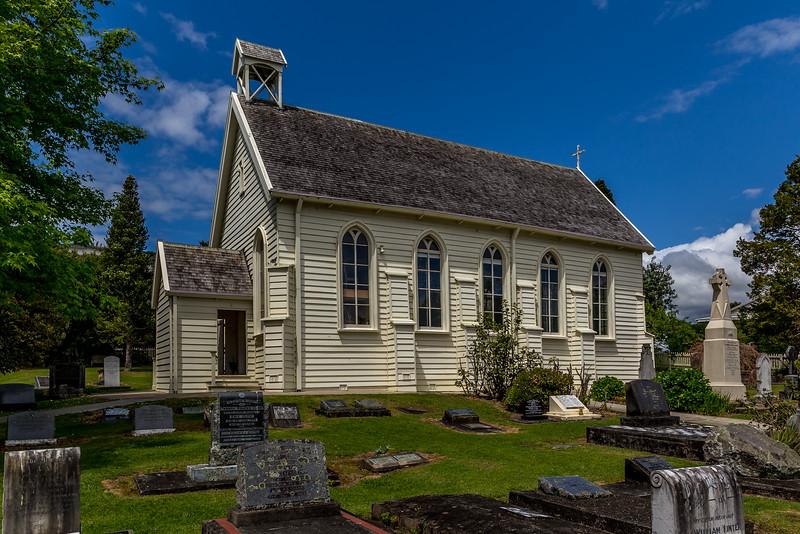 Die älteste Kirche von Neuseeland aus dem Jahr 1836 steht in Russell