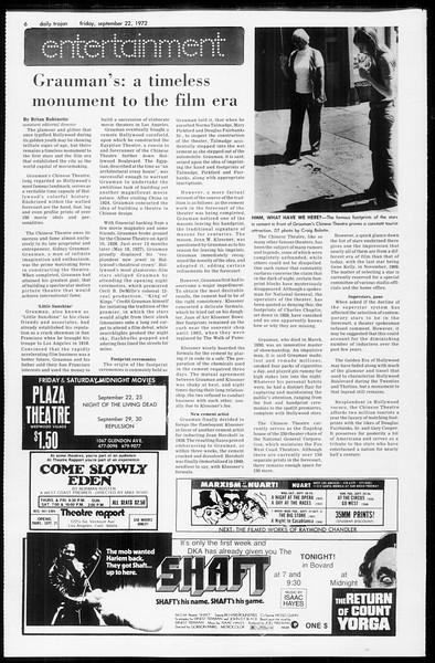 Daily Trojan, Vol. 65, No. 5, September 22, 1972