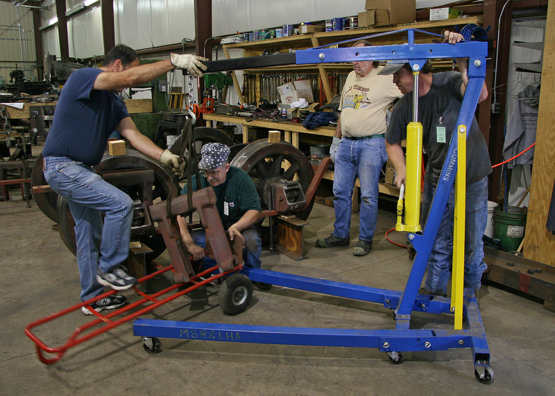 Volunteers assemble the Climax's third truck. July 2006