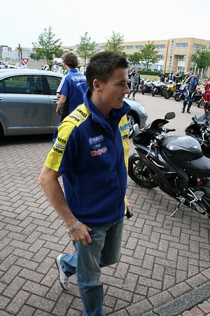 YZF-R club, Yamaha Nederland, James Toseland, Jorge Lorenzo, vlak voor Dutch TT, Assen foto's Jaap van Leeuwen