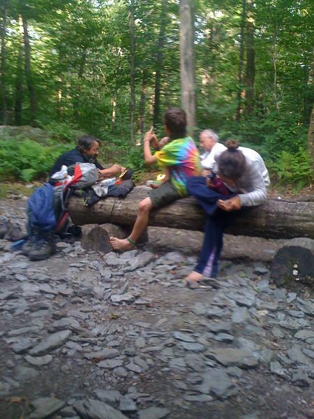 Barbarians eating at Stony Brook Shelter