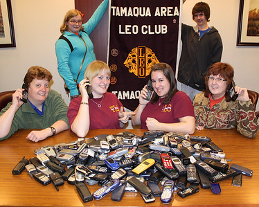 Tamaqua LEO Club Used Cell Phone Collection Donations, Tamaqua (3-21-2011)