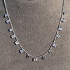 2.88ctw 18kt White Gold Scatter Necklace 15