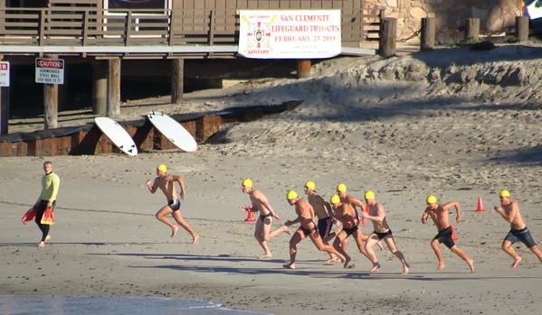 San Clemente Lifeguard Tryouts (Feb. 2019)