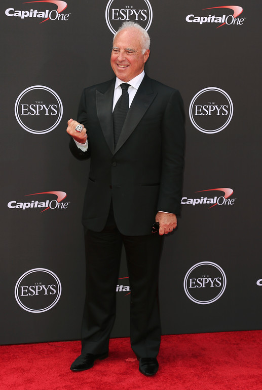 . Jeffrey Lurie, owner of the Philadelphia Eagles, arrives at the ESPY Awards at the Microsoft Theater on Wednesday, July 18, 2018, in Los Angeles. (Photo by Willy Sanjuan/Invision/AP)