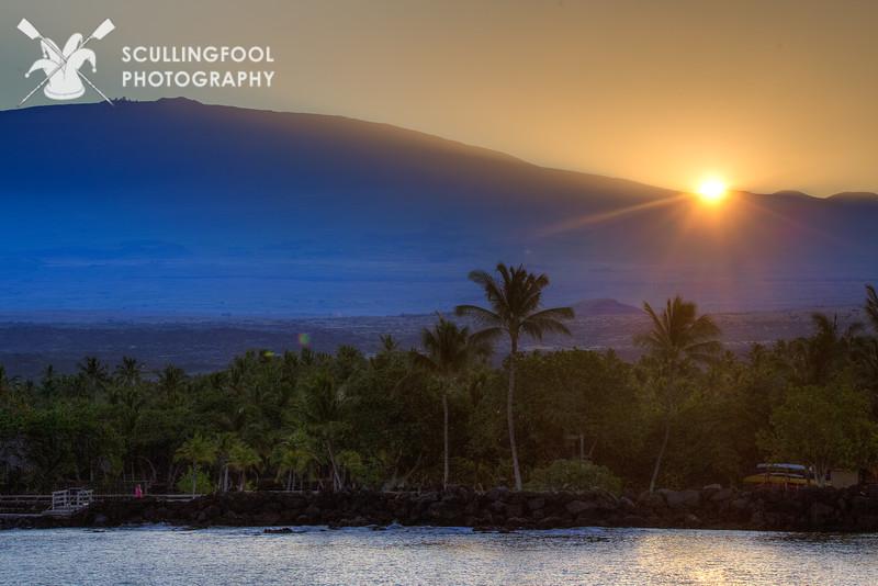 Sunrise on the slopes of Mauna Kea