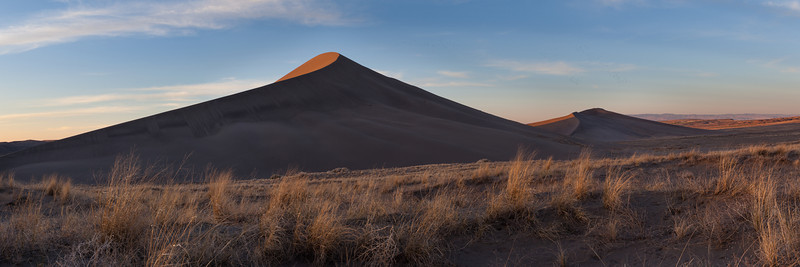 Bruneau Sand Dunes in Idaho on a March evening.