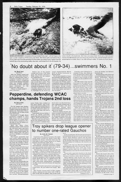 Daily Trojan, Vol. 68, No. 79, February 24, 1976