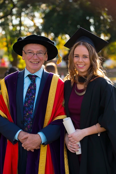 02/11/2016. Waterford Institute of Technology (WIT) Conferring Ceremonies November 2016. Pictured is Rachel Merrigan from Ballywilliam, New Ross who Graduated B.A. (Hons) in Applied Social Studies in Social Care, Also pictured is Prof Willie Donnelly, President of WIT. Picture: Patrick Browne