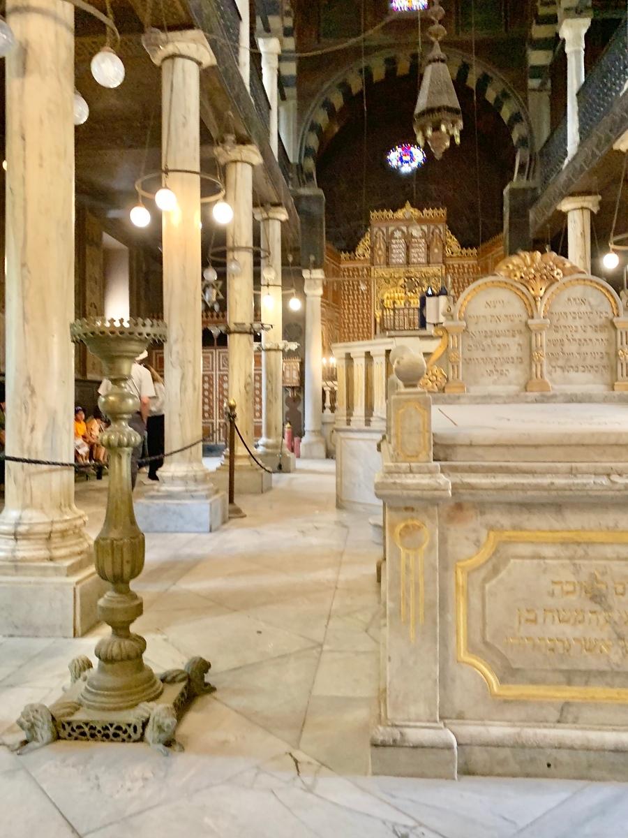 Inside the Ben Ezra synagogue