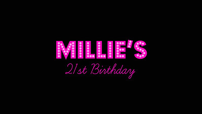 11.06 Millie's 21st Birthday