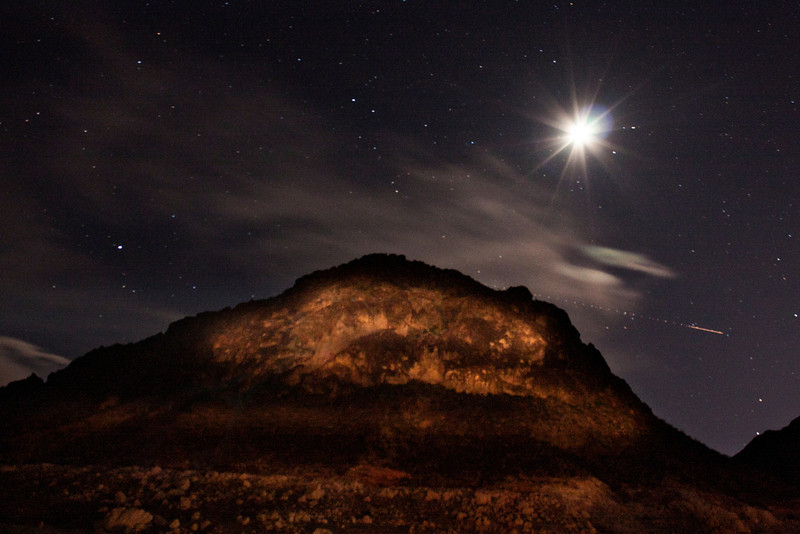 Painting a mountain with light on the shore of Lake Mead, NV. Thank you Michael and Digi!