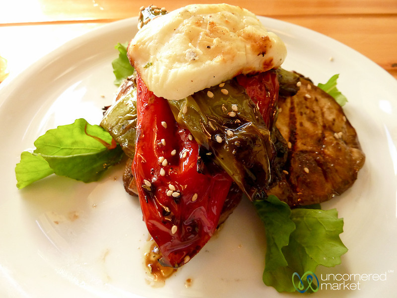 Grilled Vegetables and Cheese - Chania, Crete