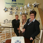 Pictured at teh First Aniversary celebrations of the Money Management Service at Newry Credit Union are, Brendab Jackson General manager, Deborah Gorman Assistant Manager and Rita Copas Mone ...