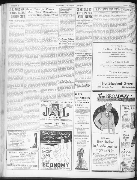 Daily Trojan, Vol. 23, No. 36, October 30, 1931