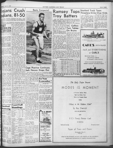 Daily Trojan, Vol. 30, No. 131, May 08, 1939