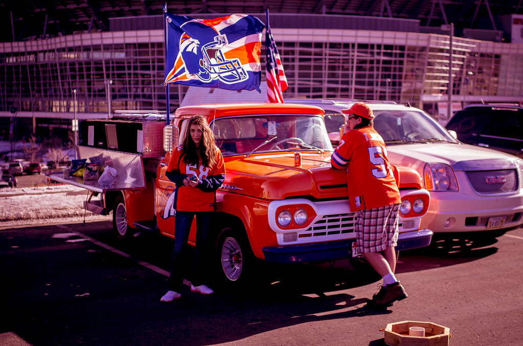 . Denver Broncos fans tailgating before the final game of the 2012 regular season vs the Kansas City Chiefs. Photo by Jeremy Nix
