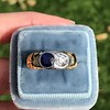 1.55ctw Old Mine Cut and Sapphire Gypsy Ring, GIA 23