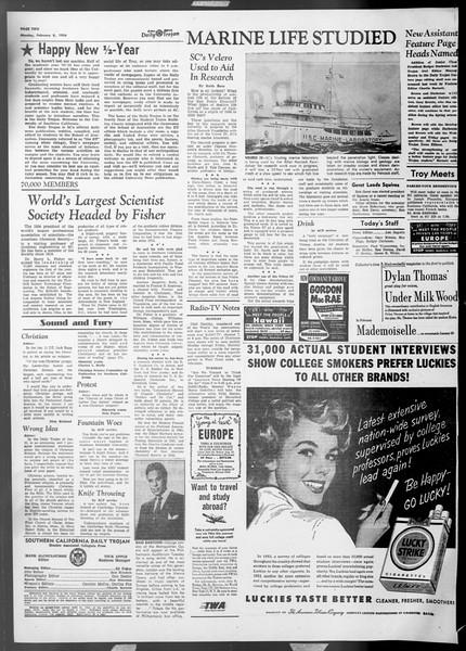 Daily Trojan, Vol. 45, No. 68, February 08, 1954