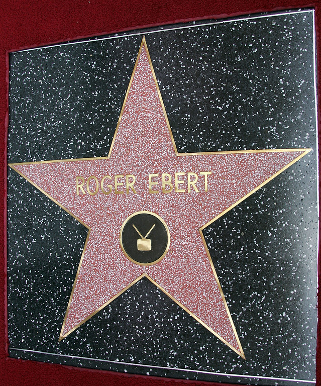 . The 2,288th Star on the Hollywood Walk of Fame for Movie Critic Roger Ebert is shown June 23, 2005 in Hollywood, California.  (Photo by Frazer Harrison/Getty Images)