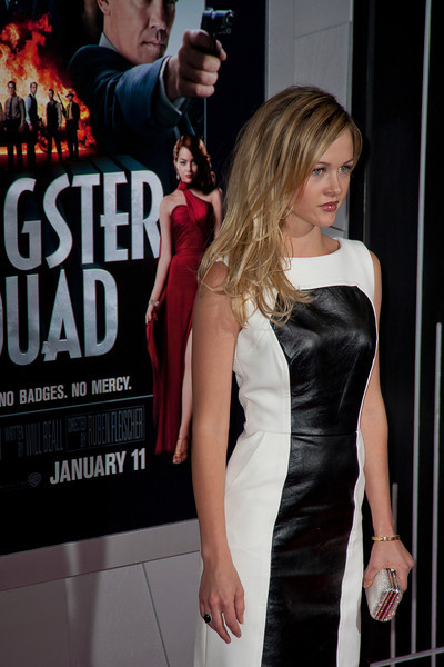 HOLLYWOOD, CA - JANUARY 07: Actress Ambyr Childers arrives at Warner Bros. Pictures' 'Gangster Squad' premiere at Grauman's Chinese Theatre on Monday, January 7, 2013 in Hollywood, California. (Photo by Tom Sorensen/Moovieboy Pictures)