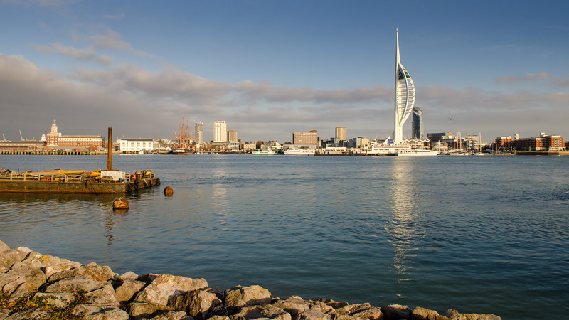 Portsmouth skyline and harbour