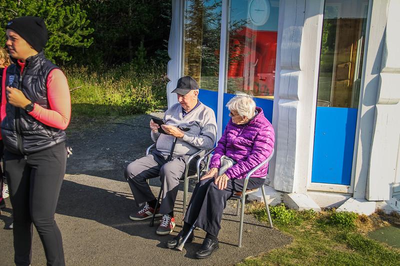 Viðar Þorsteinsson og frú.  Íslandsmót golf 2019 Grafarholt - 1. keppnisdagur. Mynd: seth@golf.is