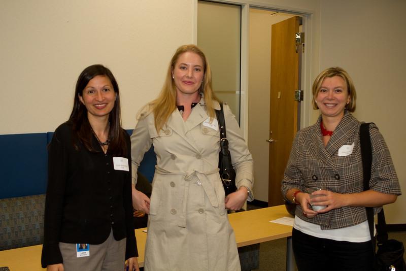 Leela Srinivasan T'06, Katherine Loarie T'09, and