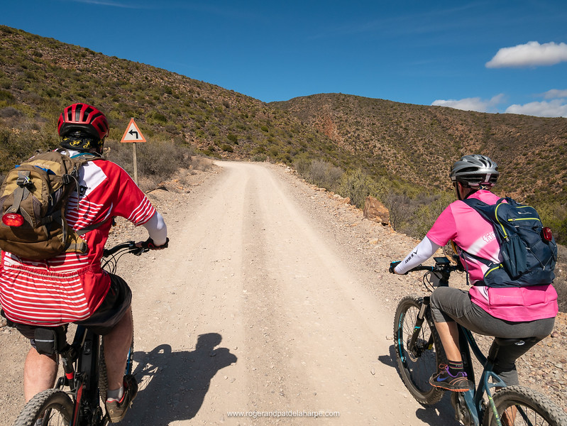 Tony and Joy about to tackle one of the many hairpin bends on Rooiberg Pass.