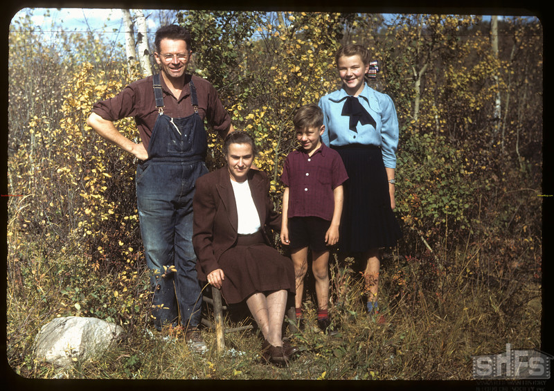 Sandy Nicholson and family.  Sturgis.  09/21/1949