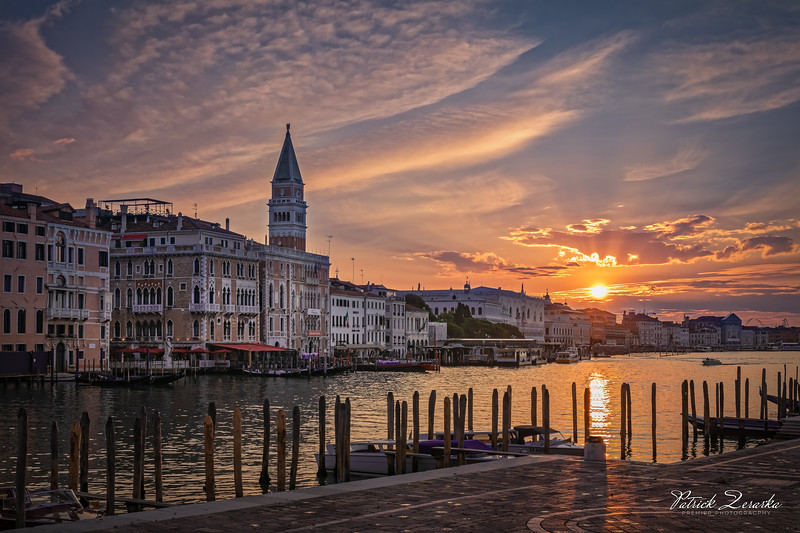 Basilica di Santa Maria della Salute Church looking at Saint Marco Square Venice Italy